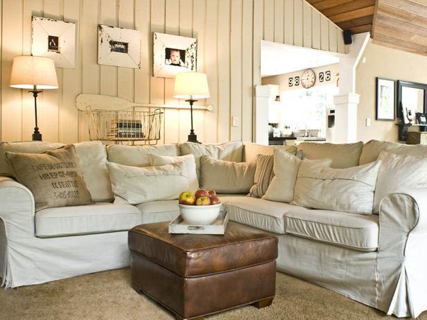 Landelijke inrichting woonkamer inspiratie - Deco kamer bruin ...